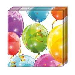 Papierové servítky vzor balóny, 33x33cm, 20ks