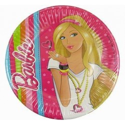 Papierové taniere Barbie, 19cm, 10ks