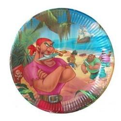 Papierové taniere Disney pirát, 23cm, 10ks