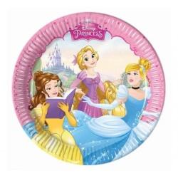 Papierové taniere Disney princezny, 20cm, 8ks