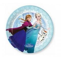 Papierové taniere Frozen Ice Skating - Ľadové kráľovstvo, 8ks