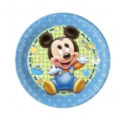 Papierové taniere Mickey Baby BOY, 20cm, 8ks