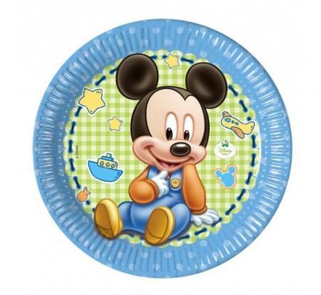 Papierové taniere Mickey Baby BOY, 23cm, 8ks