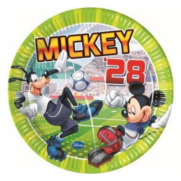 Papierové taniere Mickey Mouse, 23cm, 8ks
