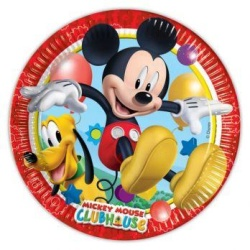 Papierové taniere Mickey Mouse Playful, 23cm, 8ks