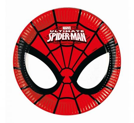 Papierové taniere Spiderman, 20cm, 8ks