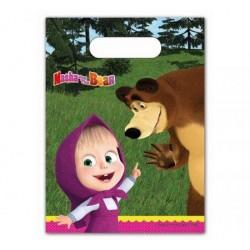 Párty tašky Máša a medveď, 6ks