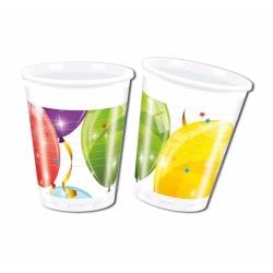 Plastové poháre Balóny, 8ks