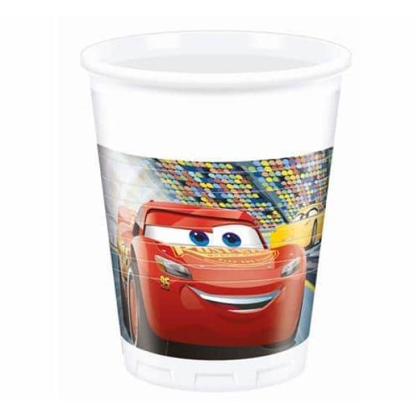Plastové poháre Cars 3, 8ks