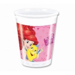 Plastové poháre Disney princezny, 8ks