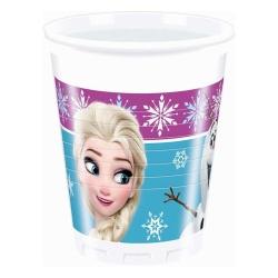 Plastové poháre Frozen - Ľadové kráľovstvo, 8ks