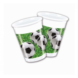 Plastové poháre Futbal, 8ks