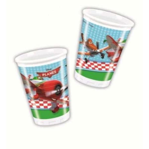 Plastové poháre Lietadlá, 8ks