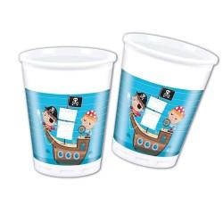 Plastové poháre Malý pirát, 8ks