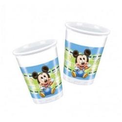 Plastové poháre Mickey Baby BOY, 8ks