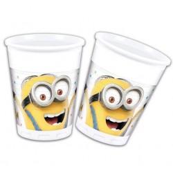Plastové poháre Mimoni, 8ks