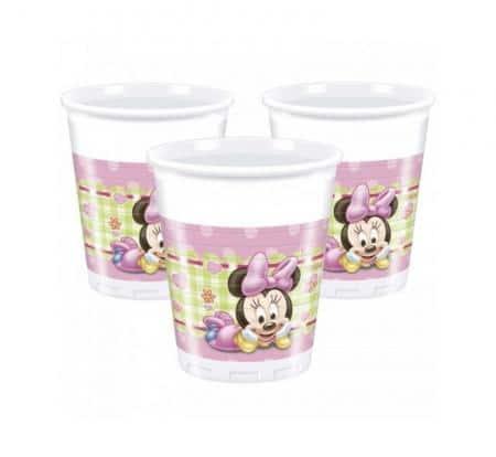 Plastové poháre Minnie Baby, 8ks