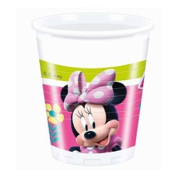 Plastové poháre Minnie Mouse, 8ks