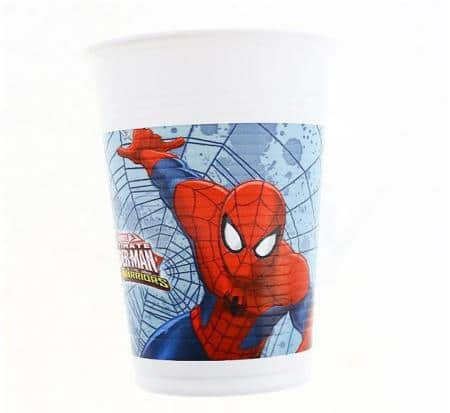 Plastové poháre Spiderman, 8ks