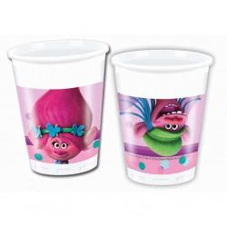 Plastové poháre Trollovia, 8ks