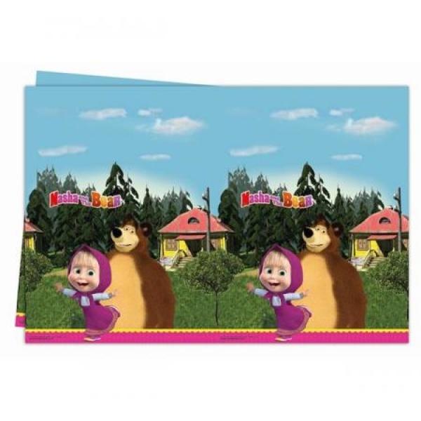 Plastový obrus Máša a medveď, 120x180cm