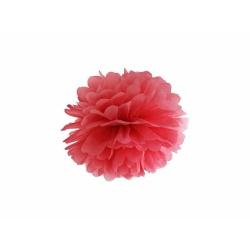 POM POM papierový tissue červený, 25cm