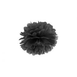 POM POM papierový tissue čierny, 25cm