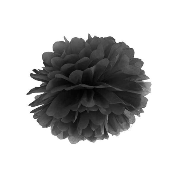 POM POM papierový tissue čierny, 35cm