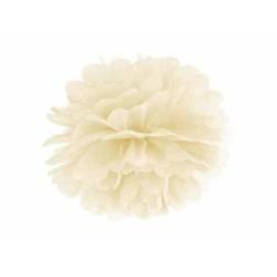 POM POM papierový tissue krémový, 35cm