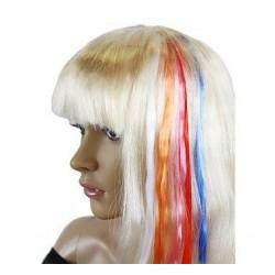 Prameň vlasov na sponke, rôzne farby, 1ks