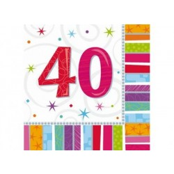 Servítky 40. narodeniny, 33x33cm, 16ks