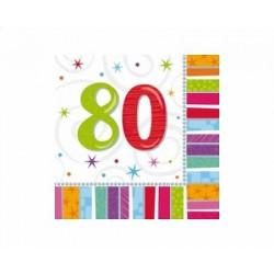 Servítky 80. narodeniny, 33x33cm, 16ks