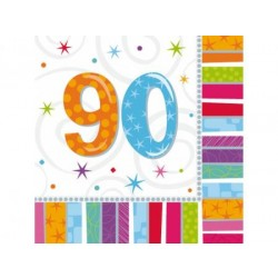Servítky 90. narodeniny, 33x33cm, 16ks