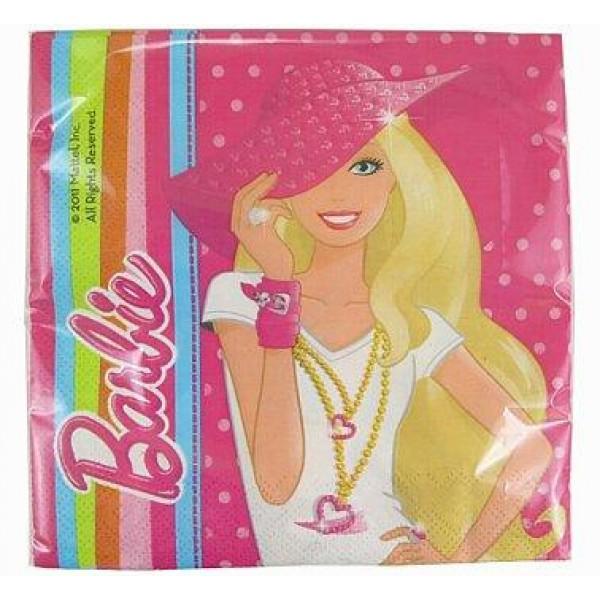 Servítky Barbie, 33x33cm, 20ks
