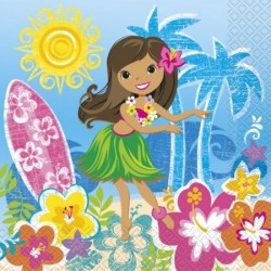 Servítky Havajské dievča, 16ks