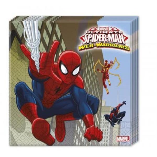 Servítky Spiderman, 20ks