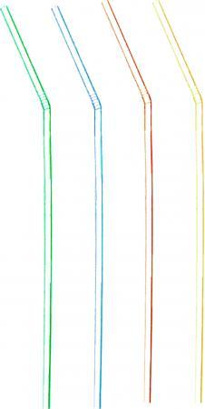 Slamky flexibilné pruhované