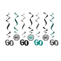 Špirálová dekorácia 60. narodeniny, 60cm, 7ks