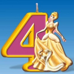 Sviečka číslo 4 Disney princezna