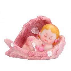 Tortová figúrka Dievčatko anjelik, 6.5cm