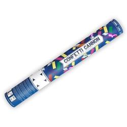 Vystreľovacie konfety farebné papierové a metalické pásiky, 40cm