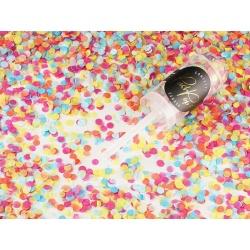 Vystreľovacie konfety PUSH POP, farebné