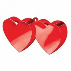 Závažie na balón 2 srdcia, červené