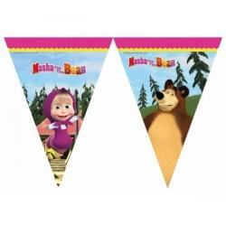 Závesné vlajky Máša a medveď, 300cm