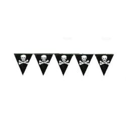 Závesné vlajky pirátska párty z plastu, 6m