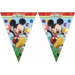 Závesné vlajky z plastu Mickey Mouse Playful, 3m