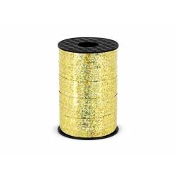 Ozdobná stuha zlatá holografická