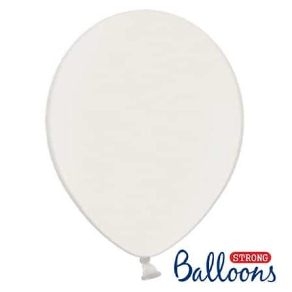 Balón metalický biely, 23cm, 1ks