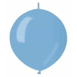 Balón metalický do girlandy bledomodrý, 32cm, 1ks