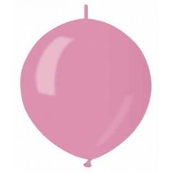 Balón metalický do girlandy ružový, 32cm, 1ks